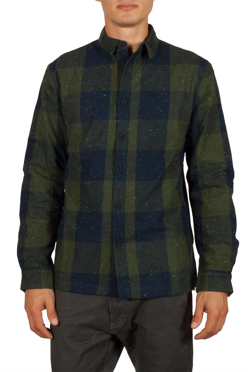 Anerkjendt Chandler πουκάμισο καρό μπλε-λαδί