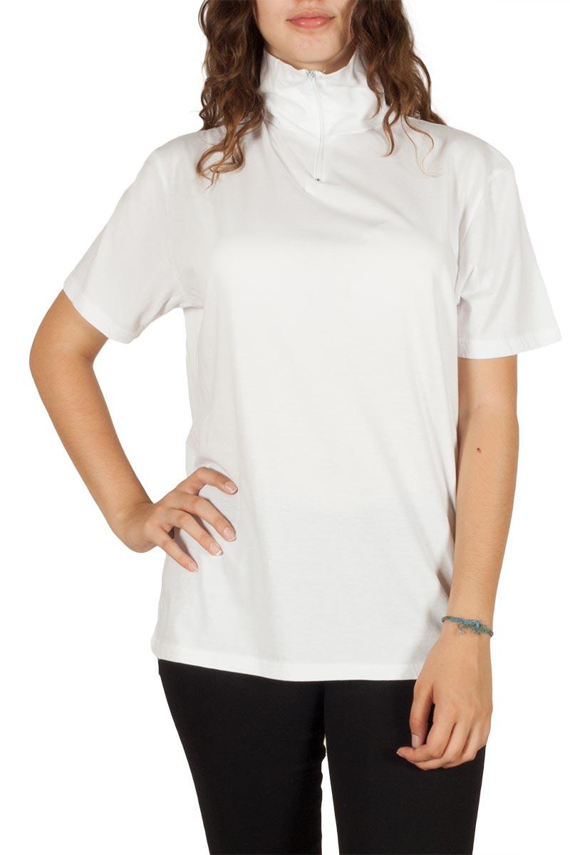 Γυναικείο t-shirt ζιβάγκο λευκό