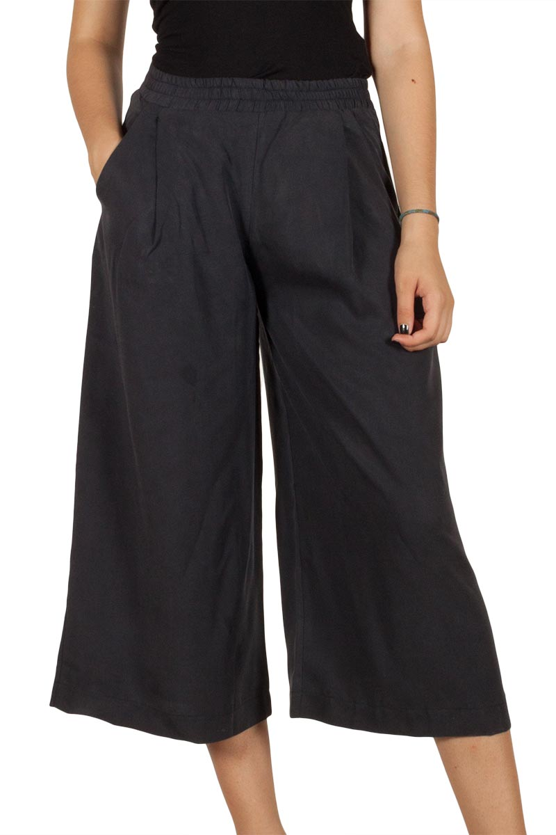 Lotus Eaters Nolwen ζιπ κιλότ γκρι σκούρο γυναικεια     παντελόνια