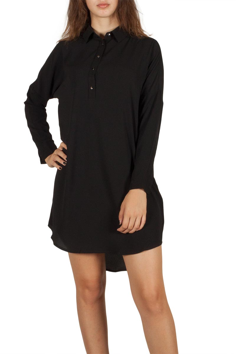 Ryujee Daria shirt φόρεμα μαύρο