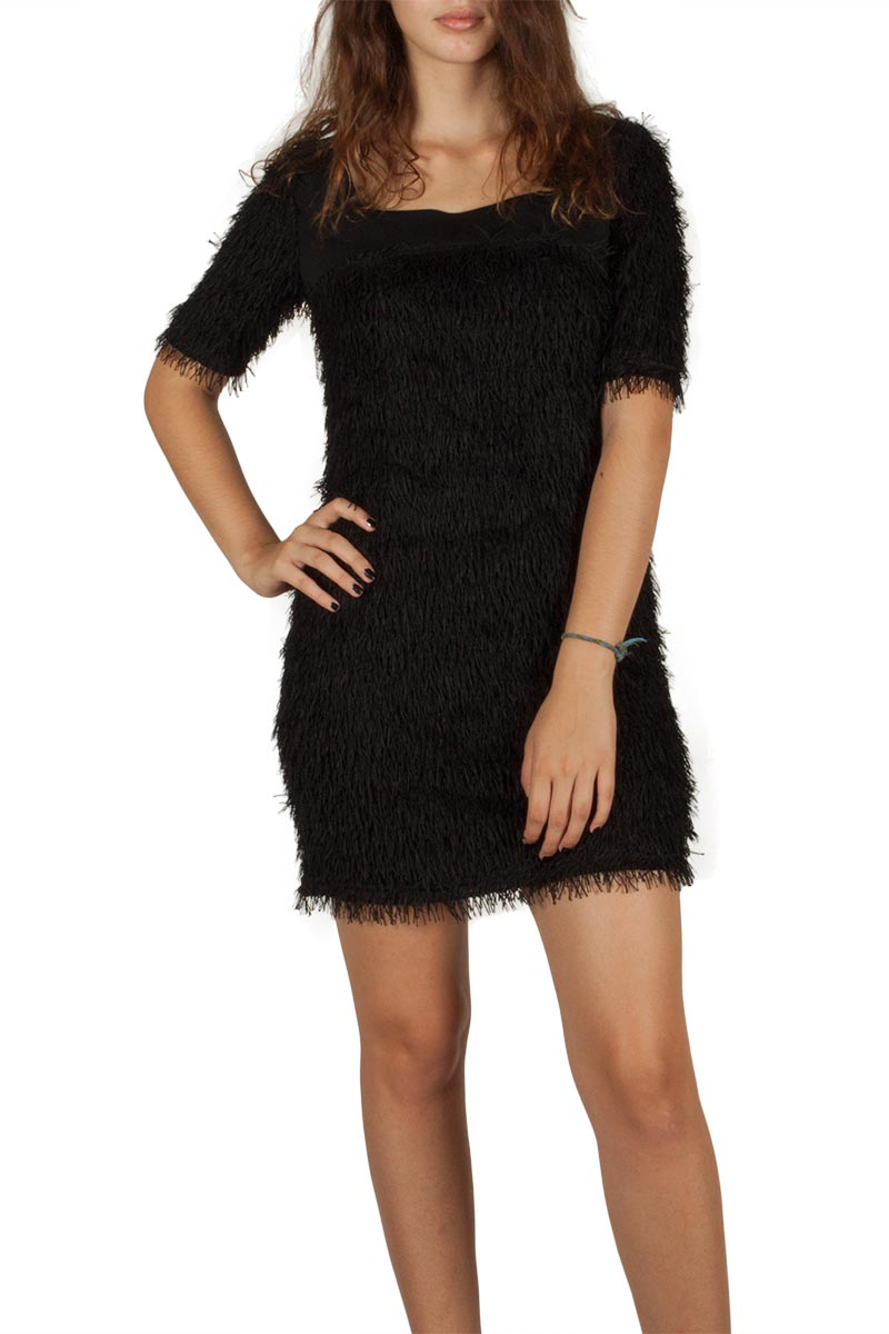 Ryujee Desta fringe dress black