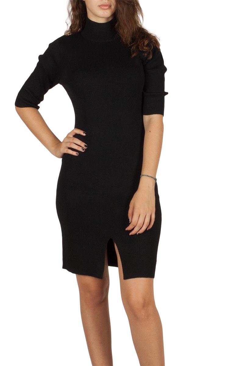 Ryujee Paquita ζιβάγκο φόρεμα μαύρο