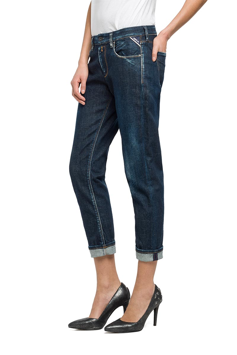 Replay Sophir carrot fit jeans dark blue
