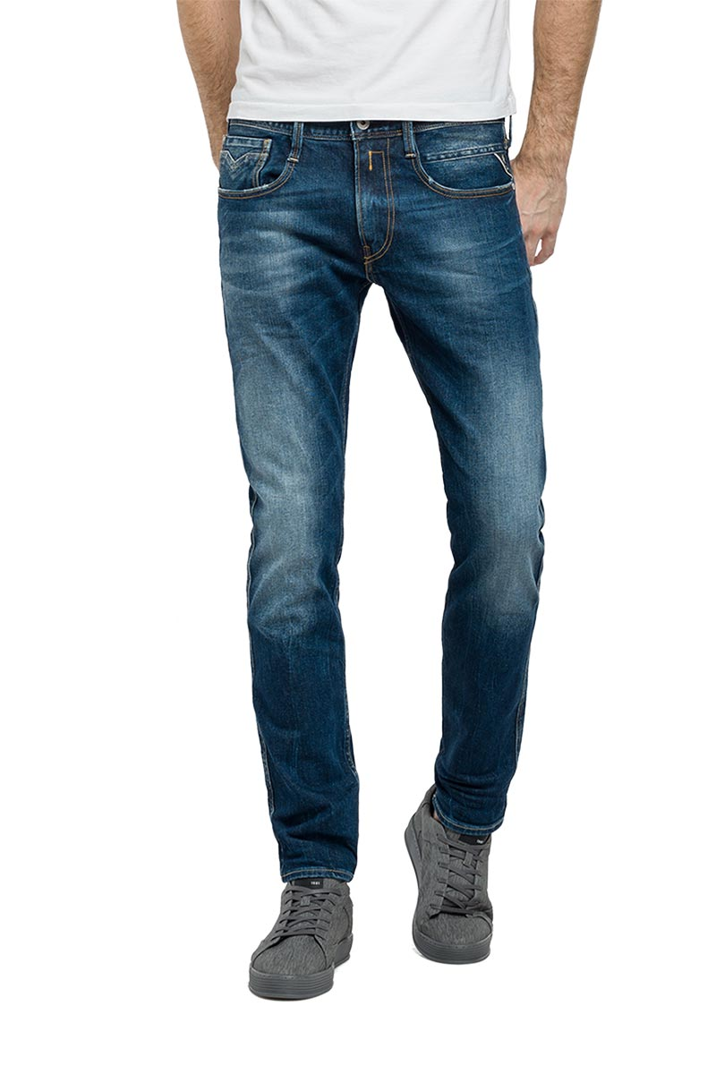 Replay Anbass slim fit jeans medium dark blue - m914y-000-93c140-007