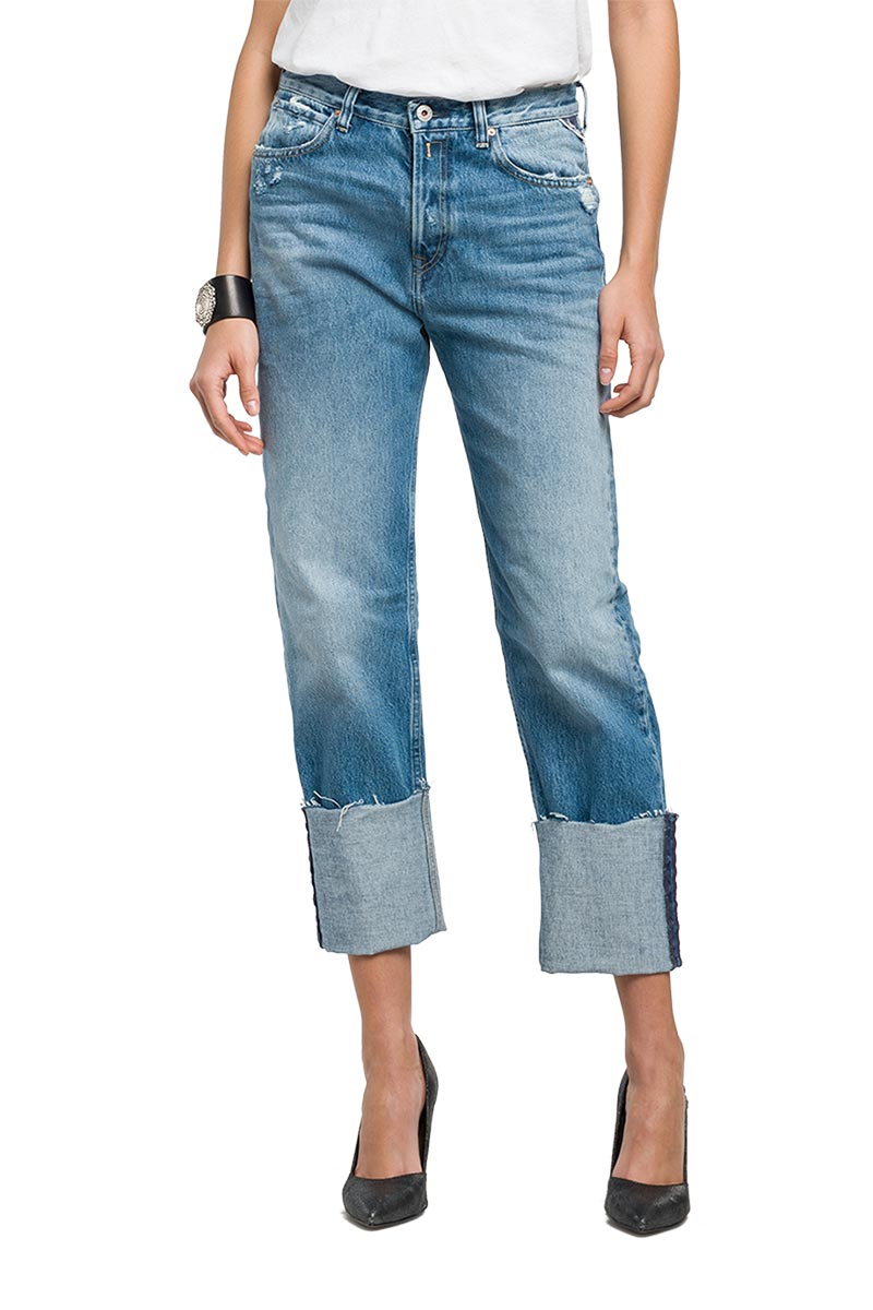 Replay Marillard cuffed oversize-fit jeans