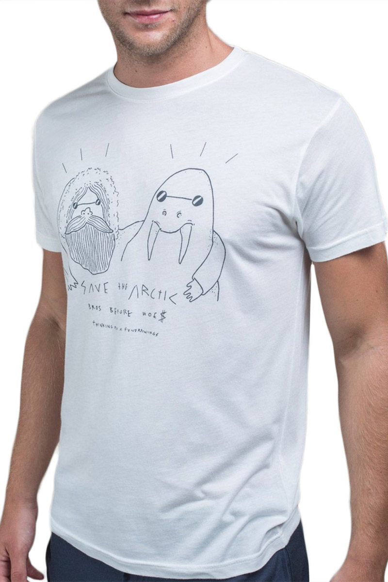 Thinking Mu Save the Arctic - Fundrawings t-shirt snow white