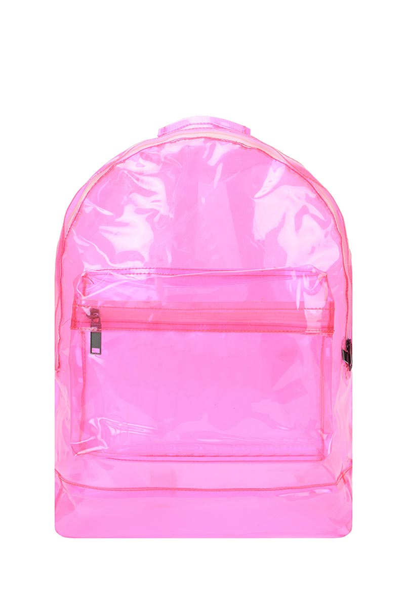 Mi-Pac backpack transparent pink