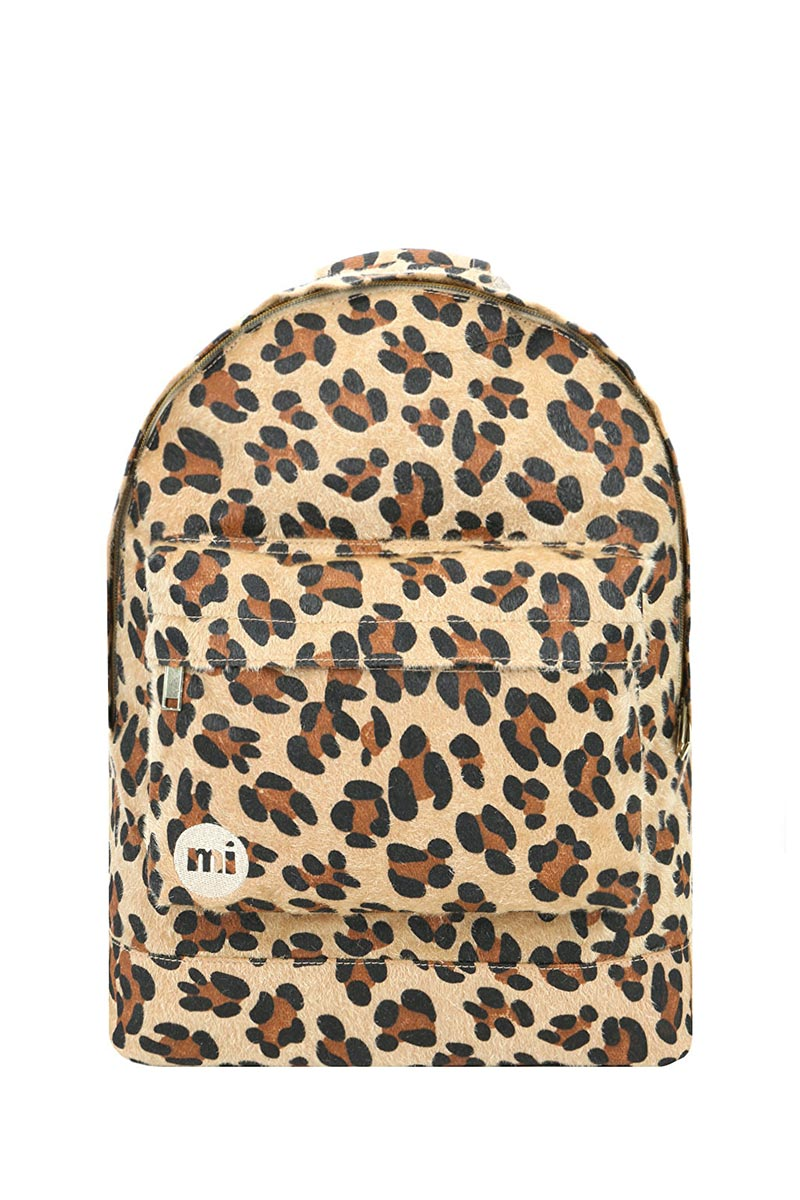 Mi-Pac Gold backpack leopard pony tan
