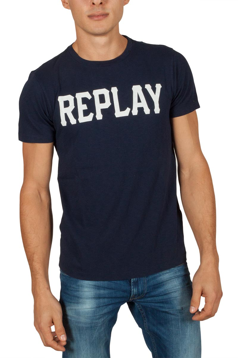 replay printed jersey t shirt. Black Bedroom Furniture Sets. Home Design Ideas
