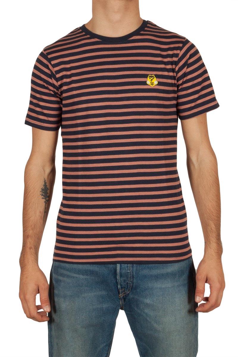 Anerkjendt Malo ανδρικό t-shirt ριγέ σάπιο μήλο-μπλε - 9417308