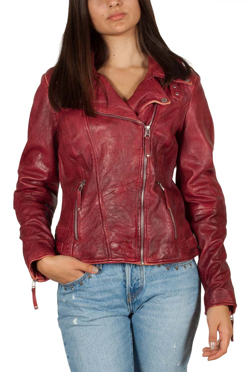 5c79a12d6e Freaky Nation New Love leather biker jacket paprika