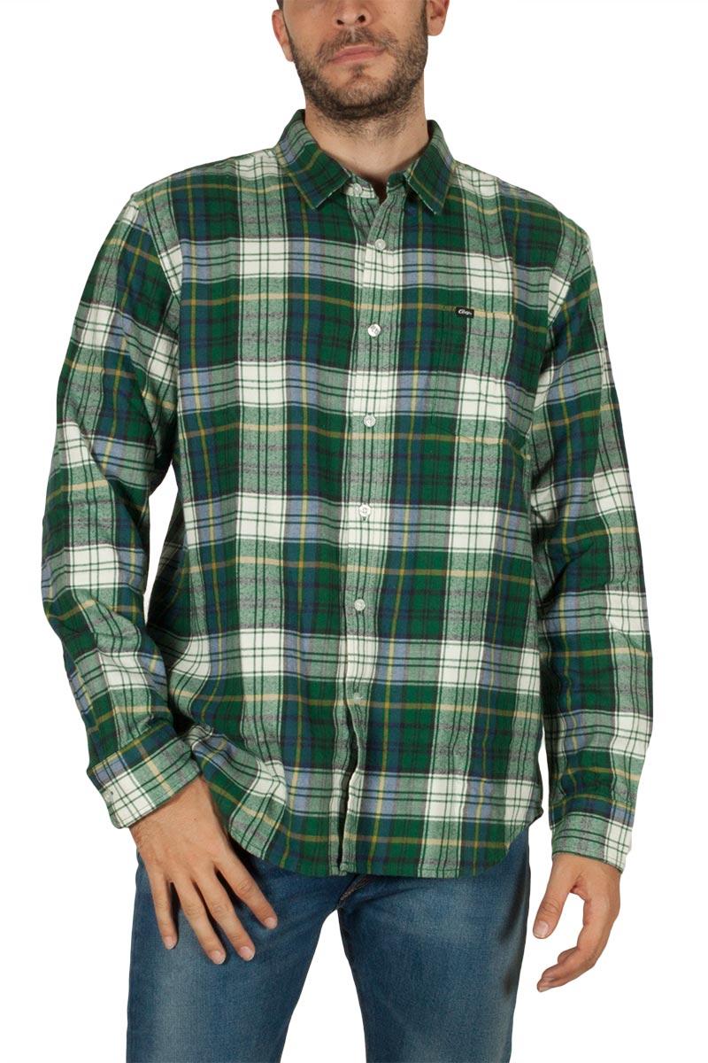 Obey Aiden φανέλα πουκάμισο καρό πράσινο - 181200207