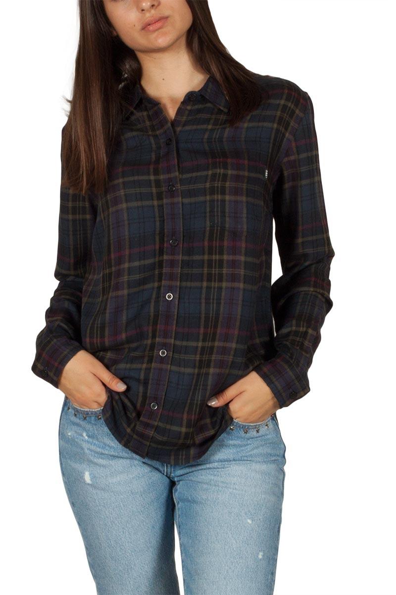 c712a04a7306 Obey Elina καρό πουκάμισο μαύρο πολύχρωμο