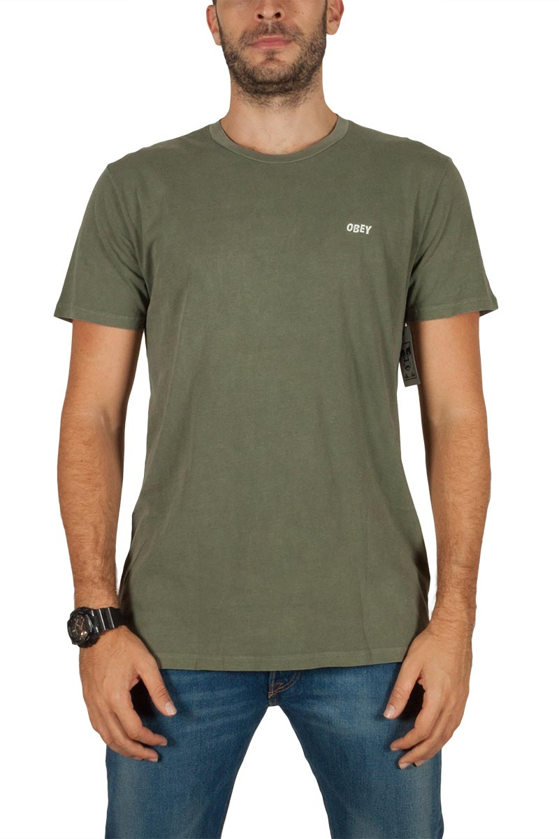 Obey Freedom of choice t-shirt χακί