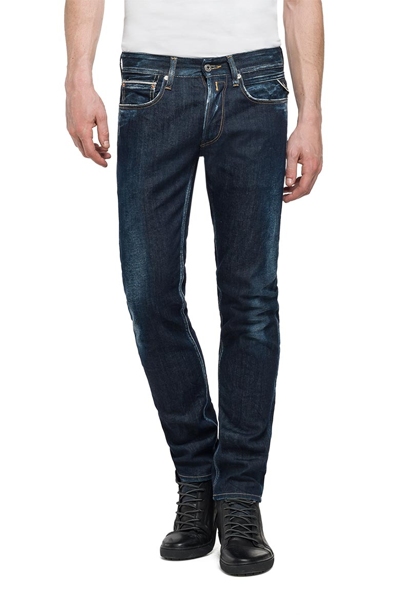 Replay Ronas slim-fit jeans σκούρο μπλε - ma946-000-61c-144-007