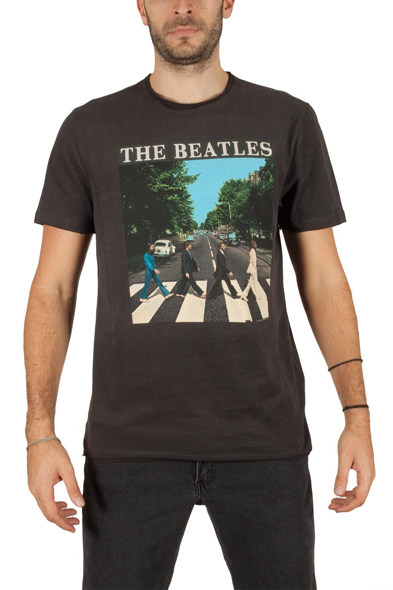 Amplified The Beatles Abbey road t-shirt ανθρακί