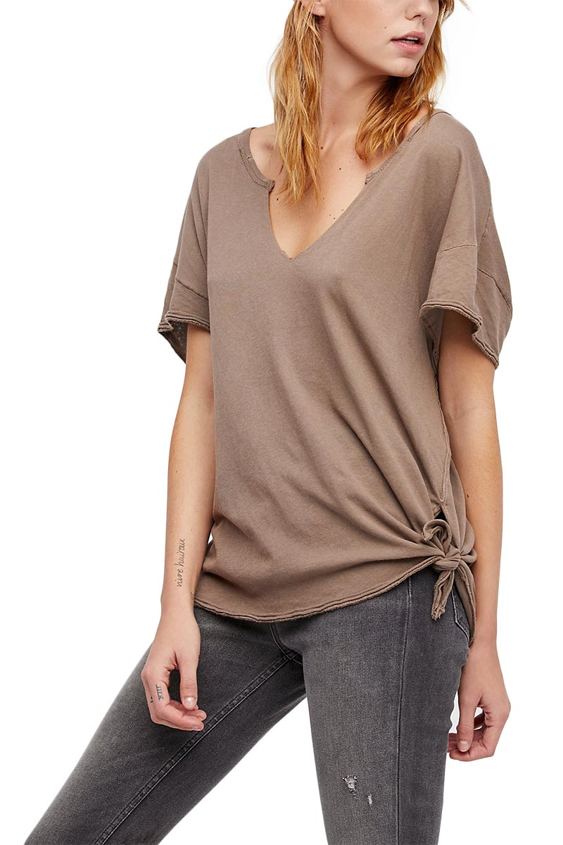 Free People We the Free Lilly t-shirt taupe