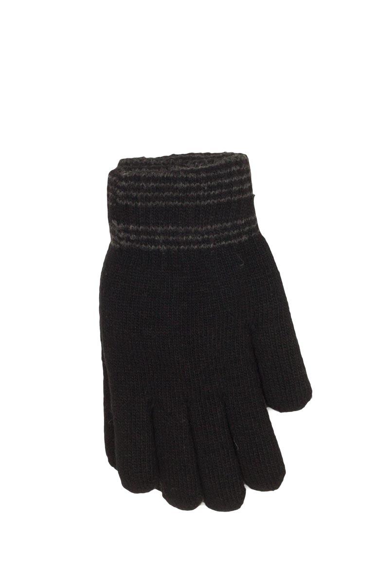 Πλεκτά γάντια μαύρα - 17061