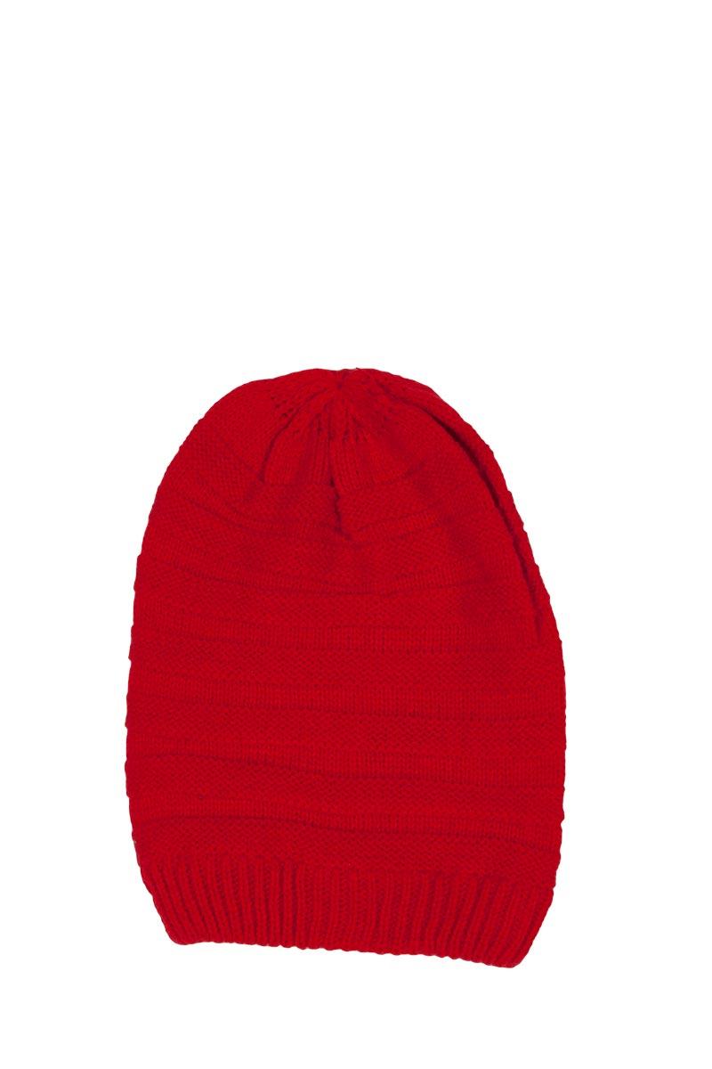 Πλεκτό σκουφάκι κόκκινο