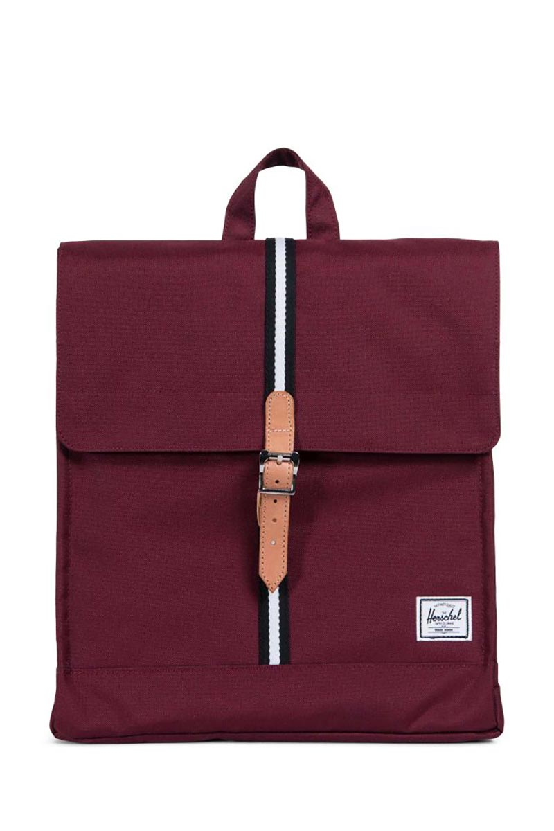 Herschel Supply Co. City Offset mid volume backpack windsor wine/leather