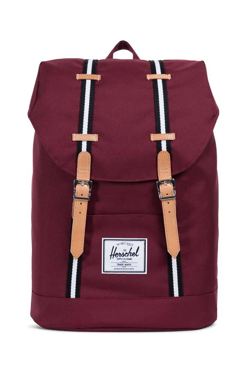 Herschel Supply Co. Retreat Offset backpack windsor wine/leather
