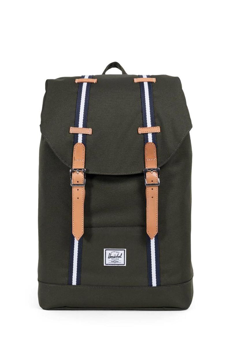Herschel Supply Co. Retreat mid volume Offset backpack forest green/leather