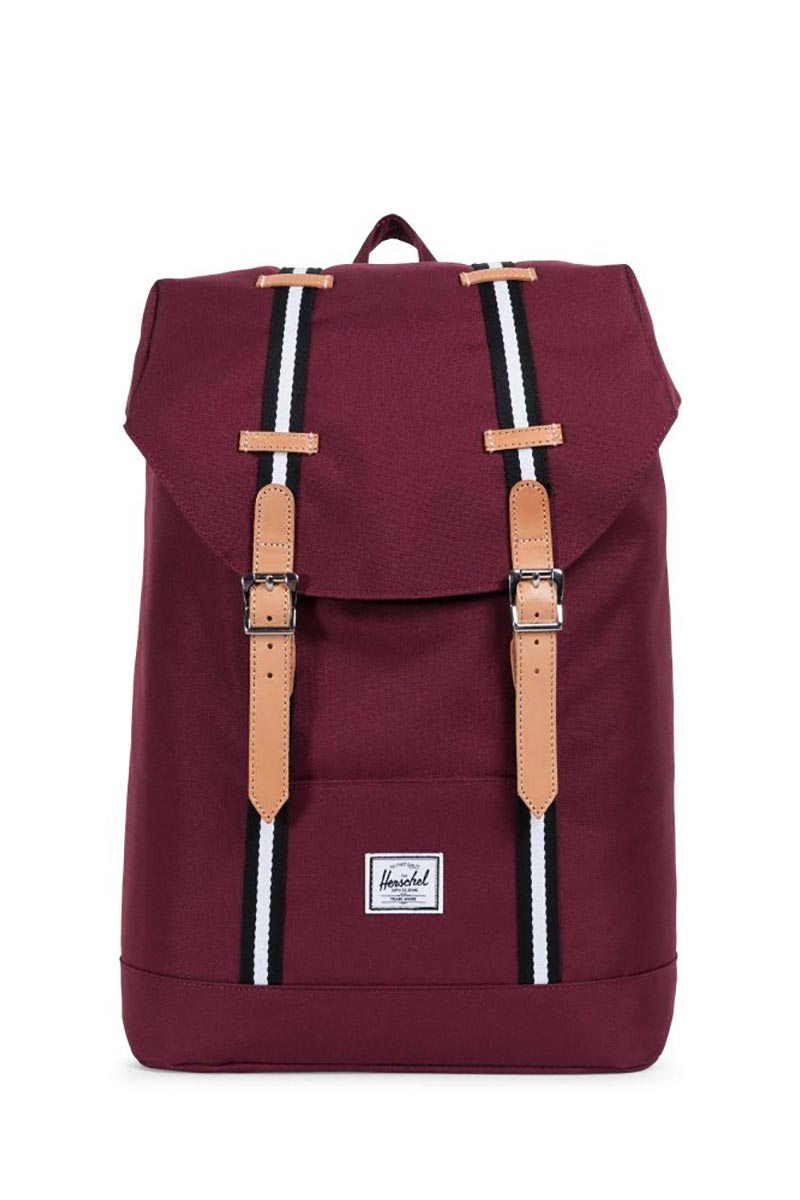 Herschel Supply Co. Retreat mid volume Offset backpack windsor wine/leather