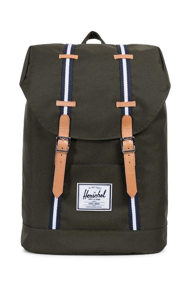 Herschel Supply Co. Retreat Offset backpack forest green/leather