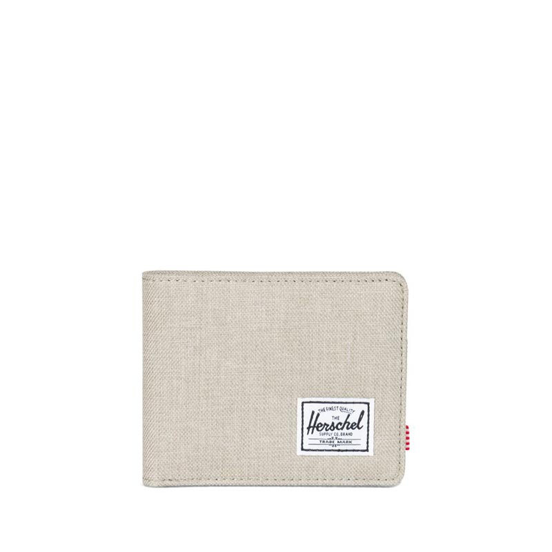 Herschel Supply Co. Roy coin RFID wallet light khaki crosshatch