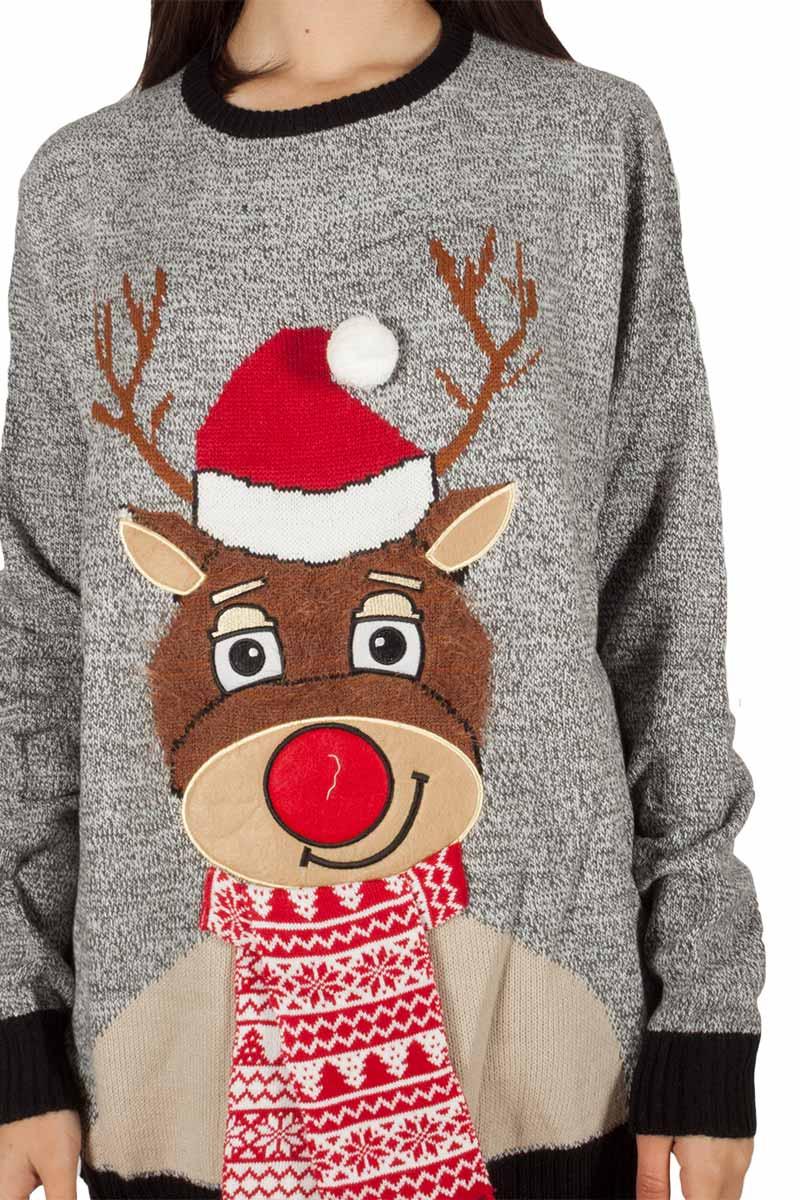 4411b080b475 Loyalty   Faith Rudolph χριστουγεννιάτικο πουλόβερ ανθρακί μελανζέ