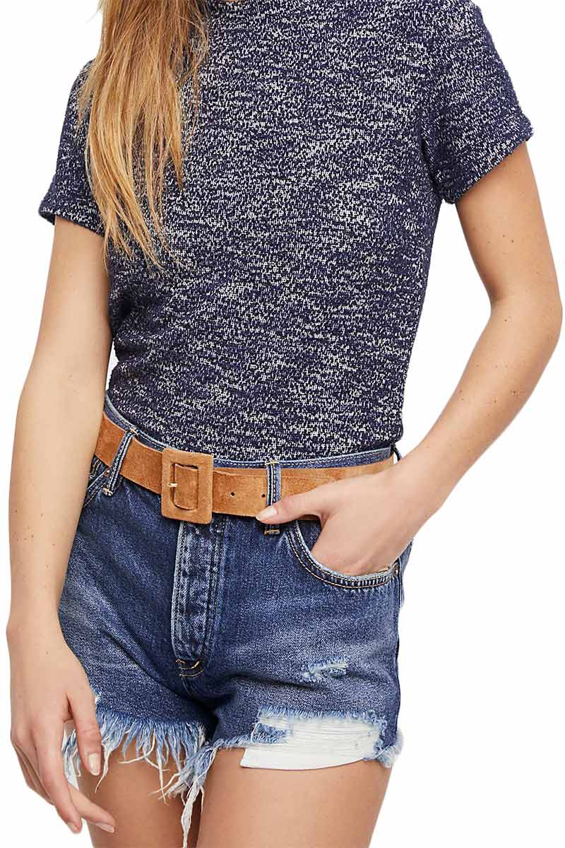 Free People Loving good vibrations denim shorts indigo mirage - ob735229