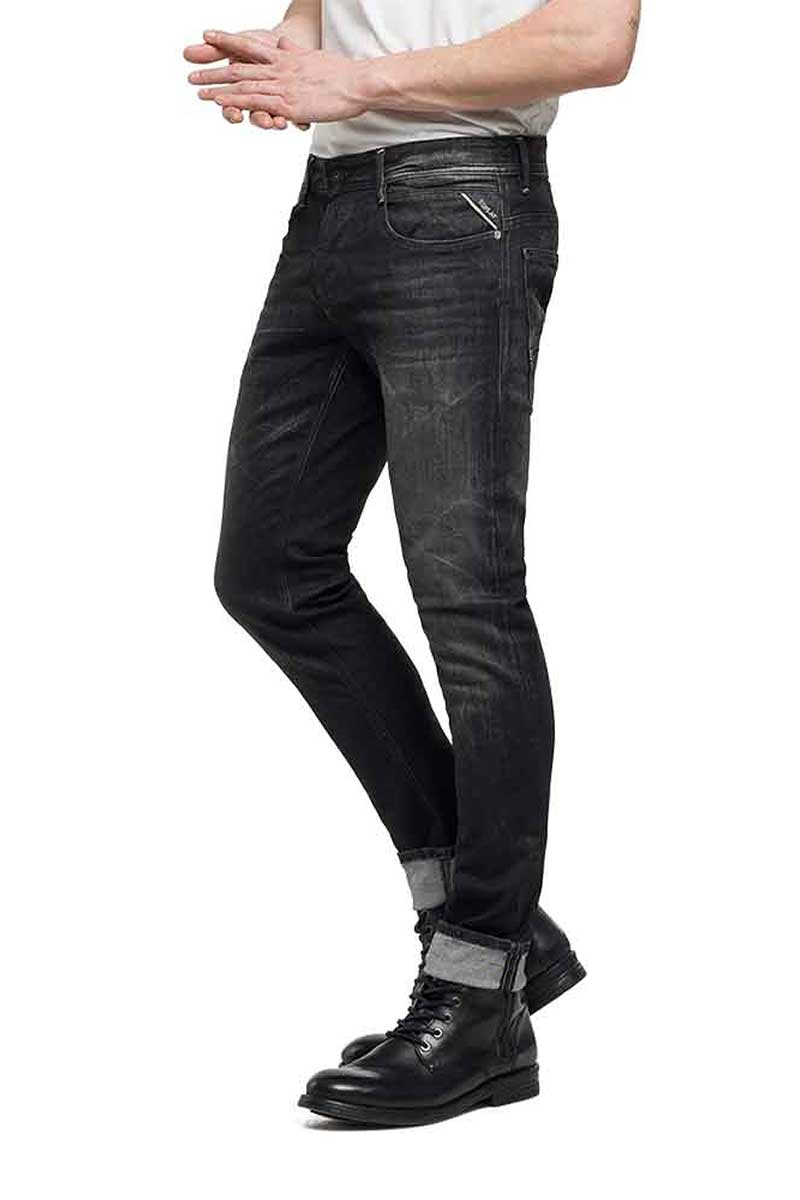 Replay Anbass slim fit jeans black - m914-000-95b816-098
