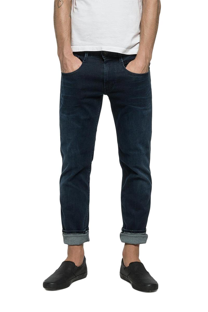 Replay Anbass slim fit jeans dark blue - m914-000-41a-603-007