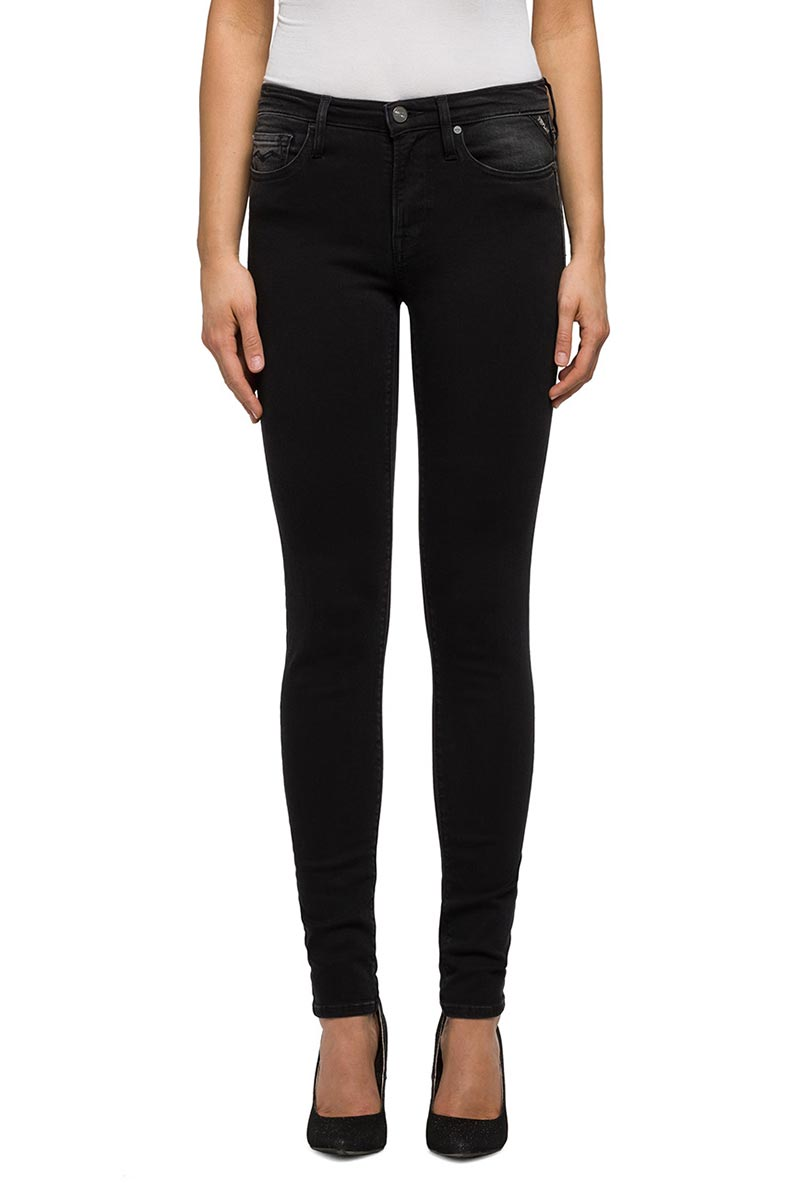 Replay Joi modal denim jeggings μαύρο - wx654e-000-85b819b-007