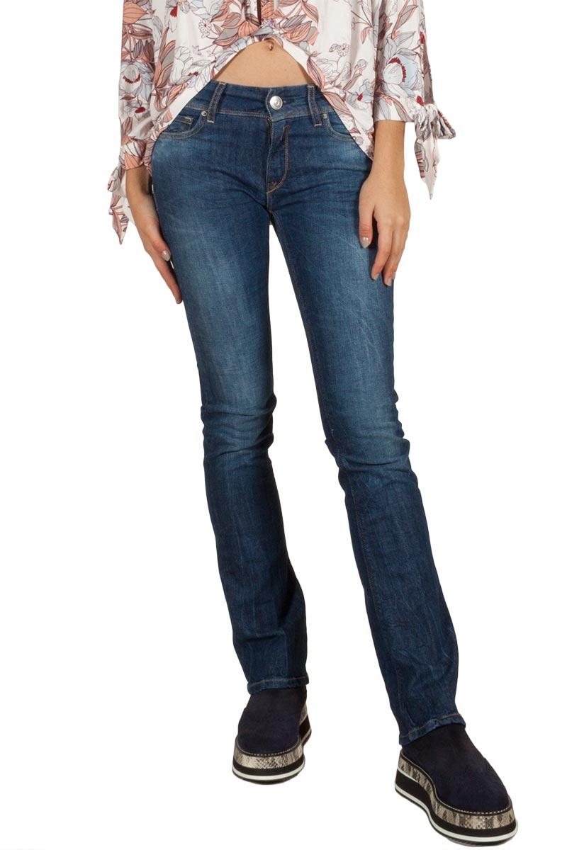 Replay Luz γυναικείο bootcut jeans blue - wex689-000-63c923-007
