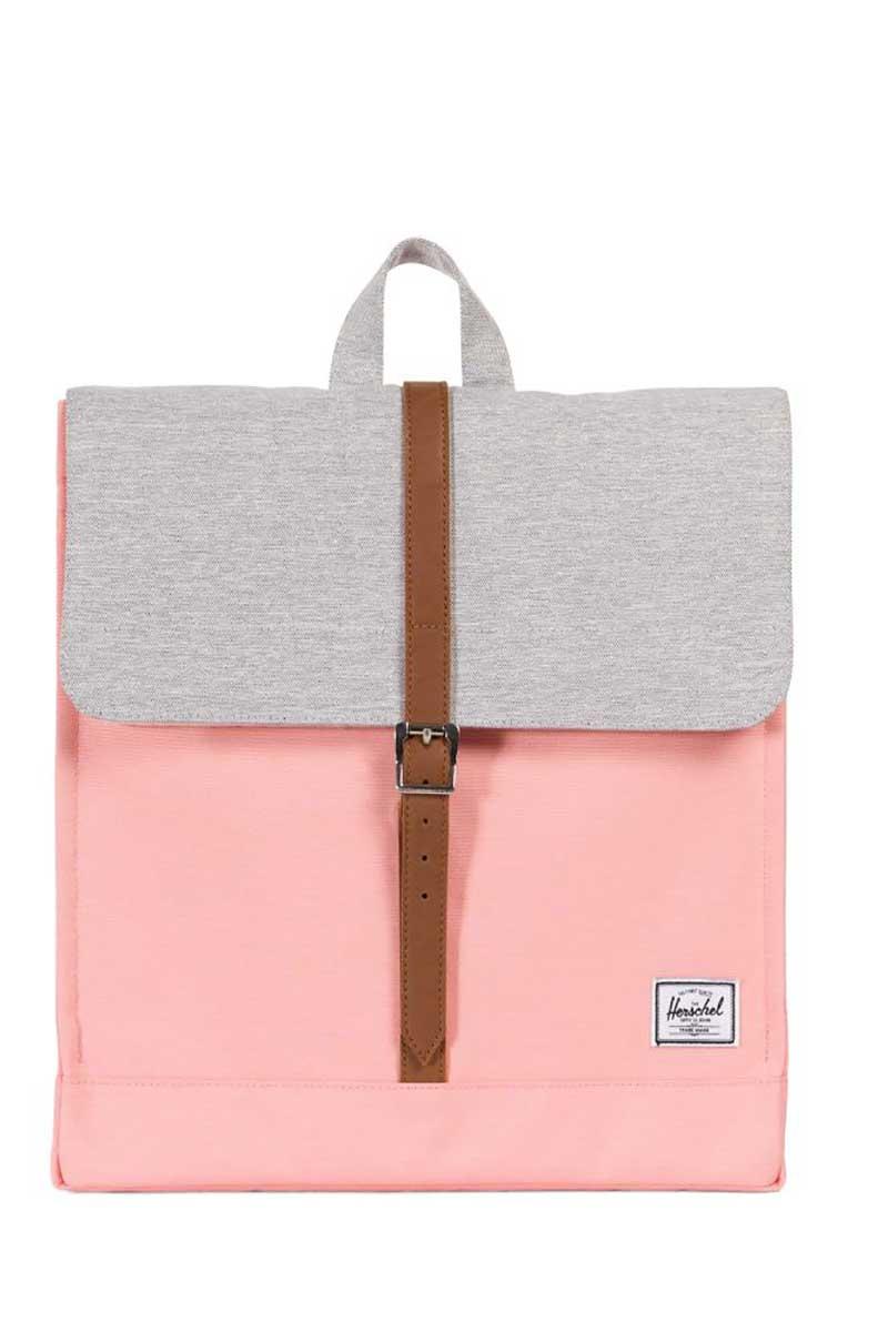 Herschel Supply Co. City mid volume backpack peach/light grey crosshatch