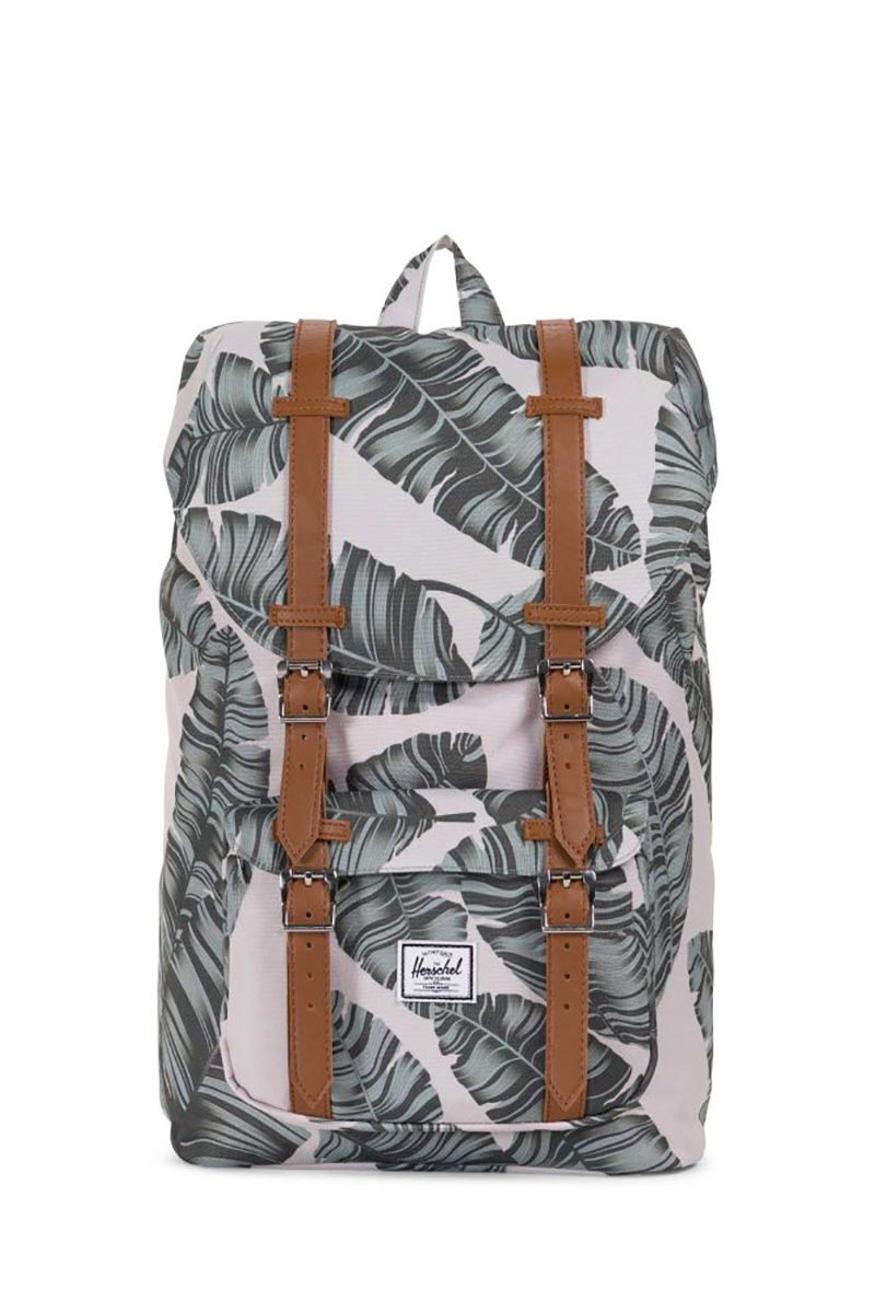 Herschel Supply Co. Little America mid volume backpack silver birch palm/tan