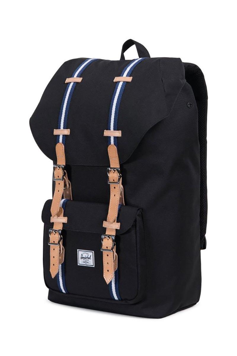 f181d34bbc ... Herschel Supply Co. Little America Offset backpack black blueprint white  ...
