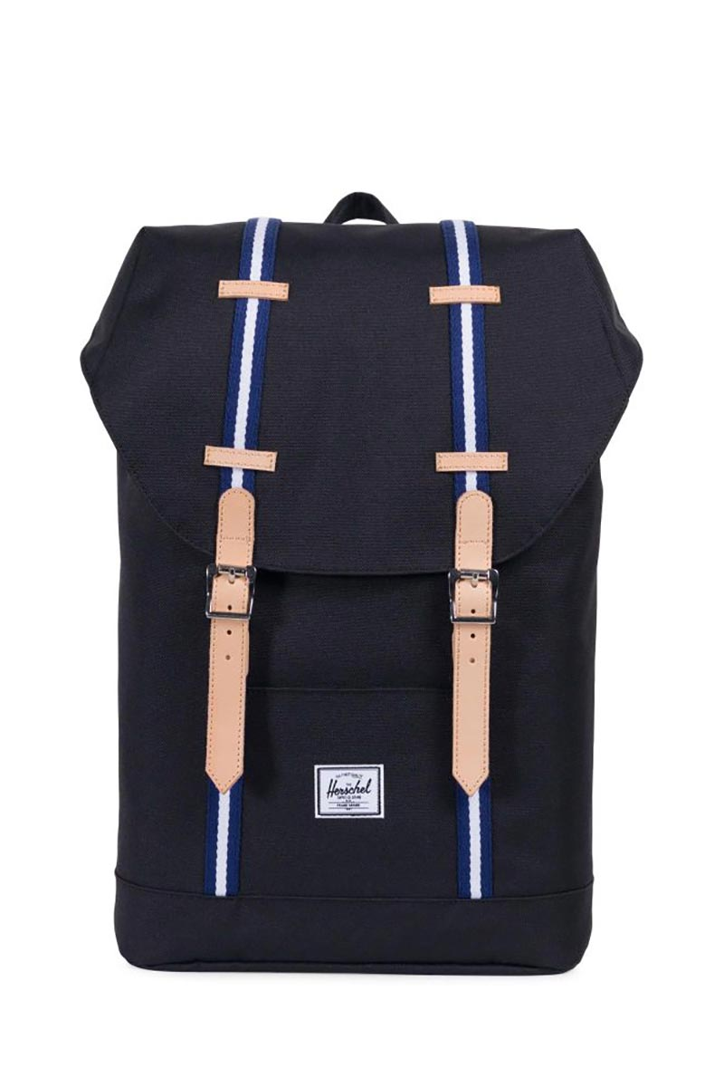 Herschel Supply Co. Retreat mid volume Offset backpack black/blueprint/white