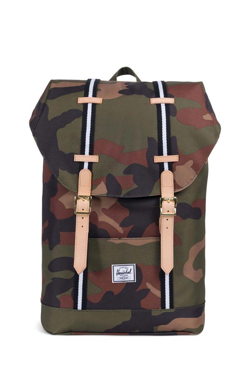 Herschel Supply Co. Retreat mid volume Offset backpack woodland camo/black/white