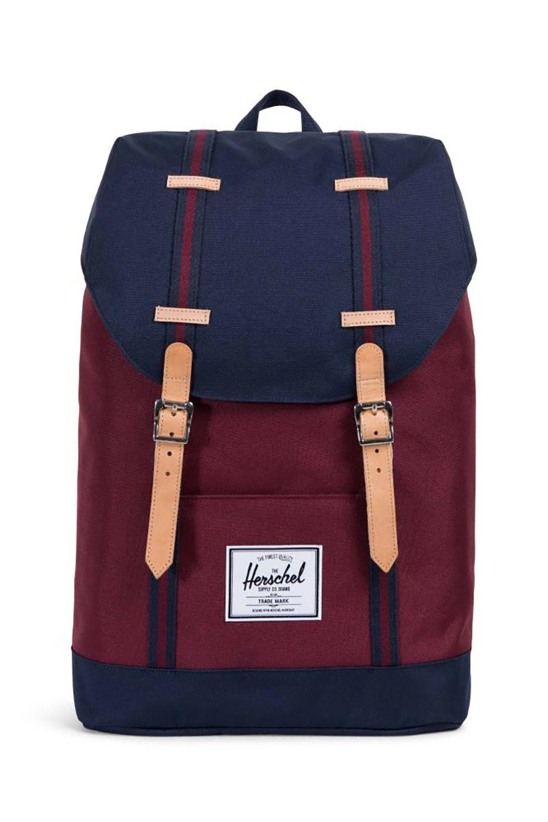 Herschel Supply Co. Retreat Offset backpack windsor wine/peacoat