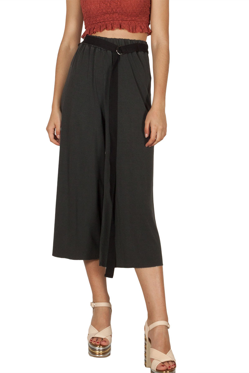 Lotus Eaters Pisa ζιπ κιλότ σκούρο γκρι γυναικεια     παντελόνια