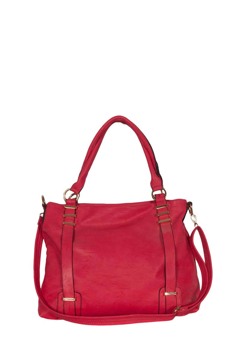 Nicoletta γυναικεία τσάντα PU φούξια