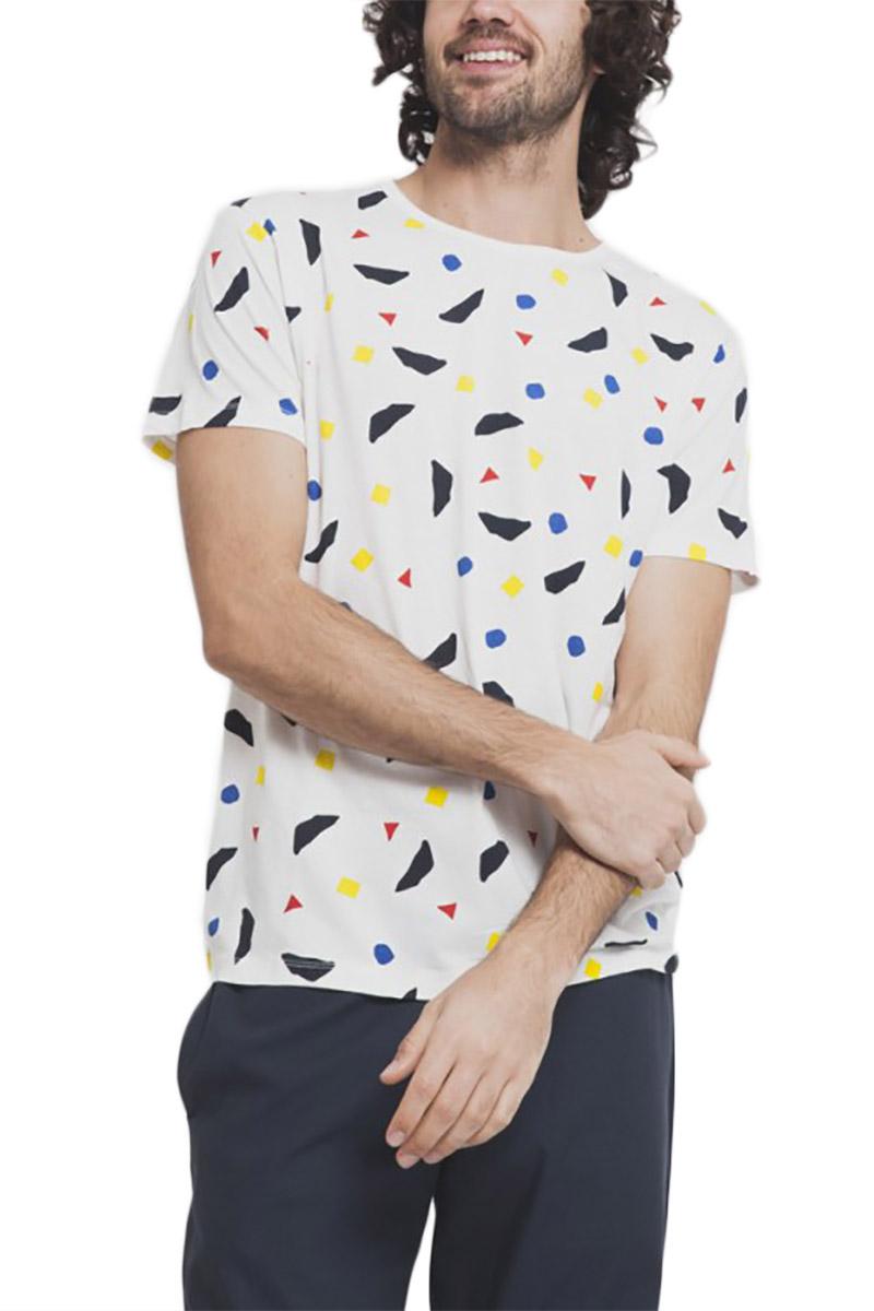 Thinking Mu ανδρικό t-shirt Calder λευκό