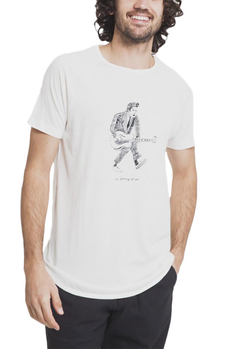 Thinking Mu ανδρικό t-shirt Chuck λευκό