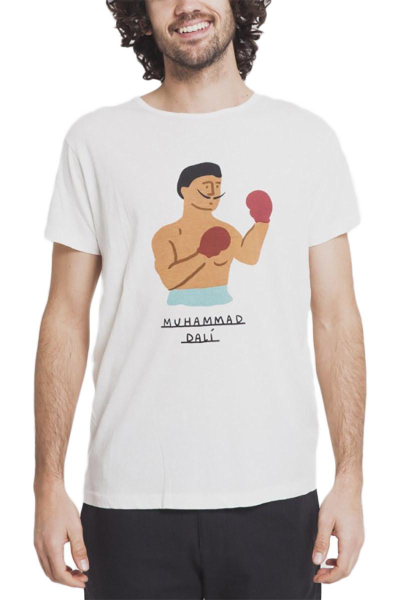 Thinking Mu ανδρικό t-shirt Muhamad Dali λευκό
