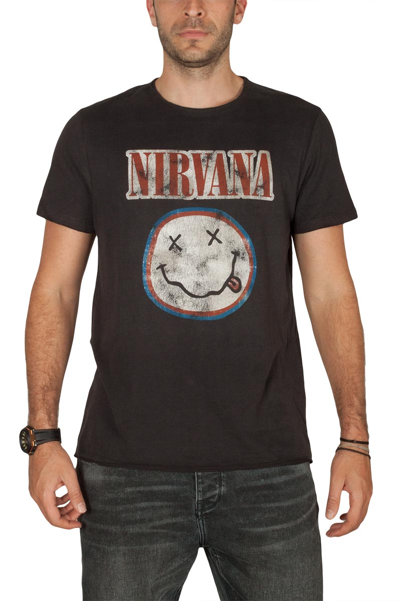 Amplified Nirvana Colours t-shirt ανθρακί