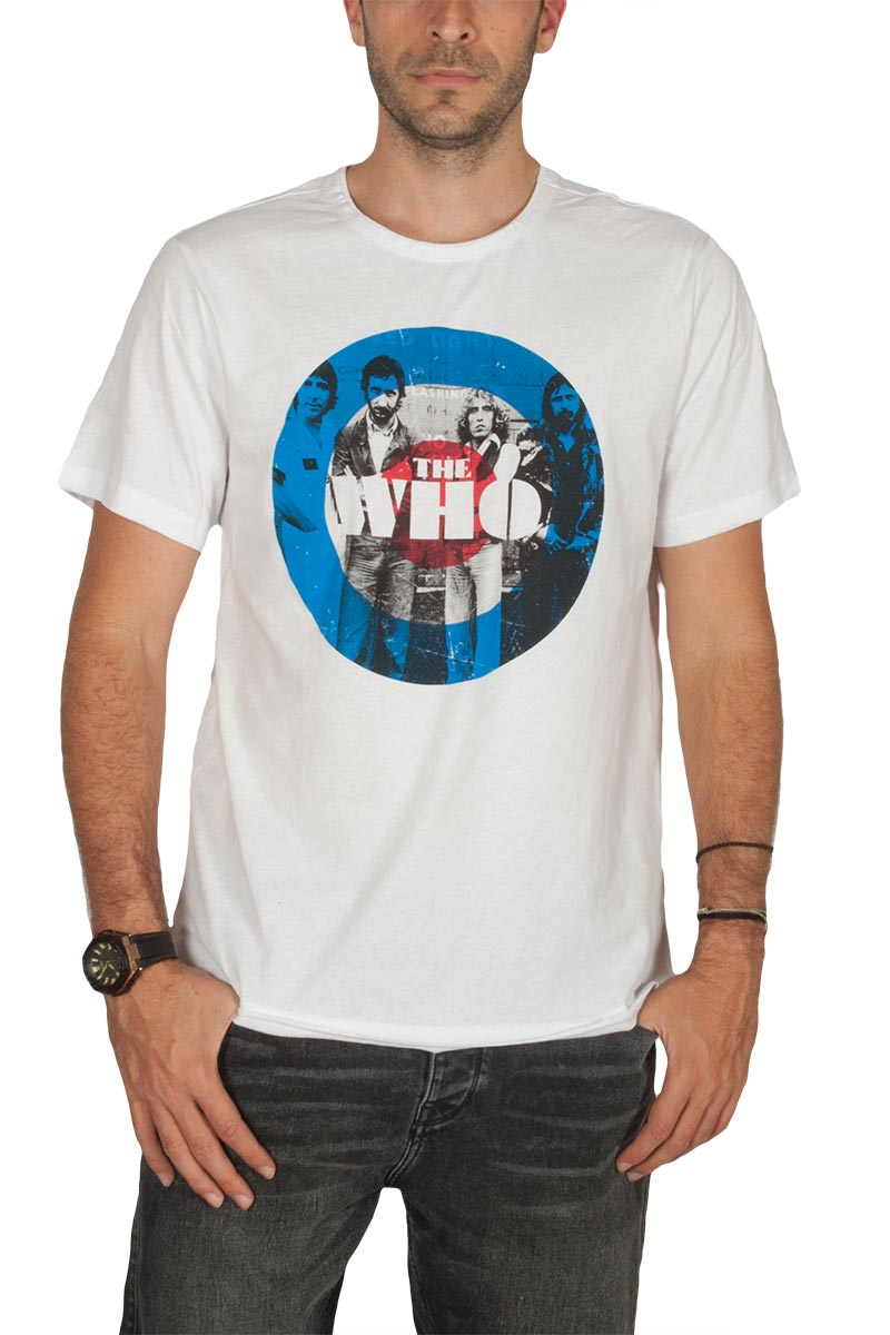 Amplified The Who target t-shirt λευκό