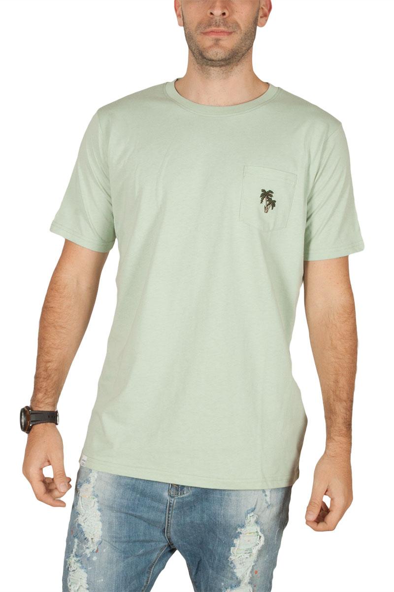 Anerkjendt Deric ανδρικό t-shirt φυστικί με τσεπάκι - 9218333-gn