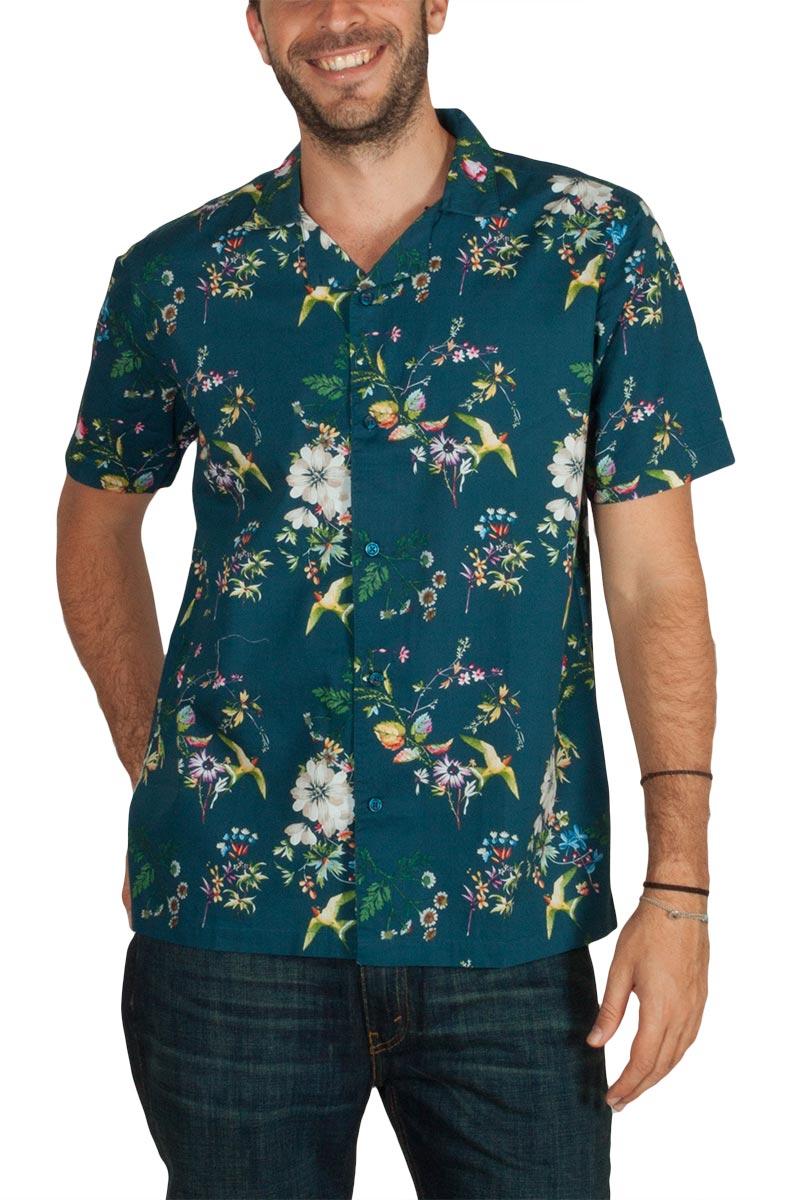 Anerkjendt Edgar κοντομάνικο πουκάμισο μπλε φλοράλ